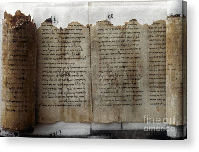 1st Century B.c. Acrylic Print featuring the photograph Dead Sea Scroll by Granger