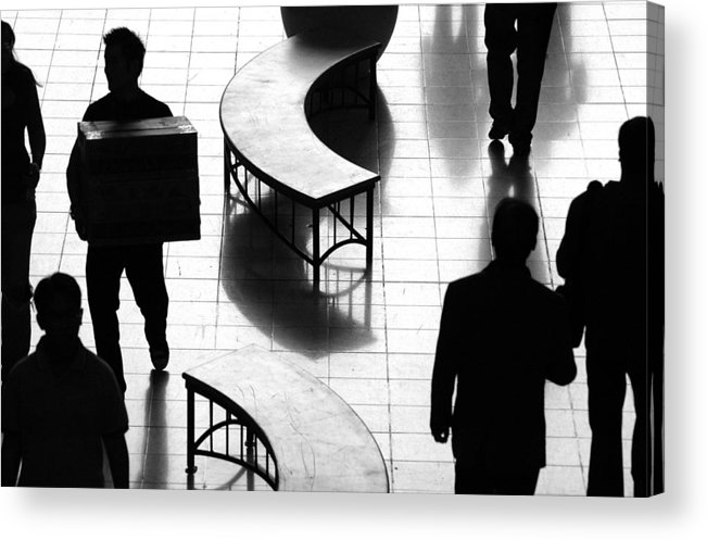 People Acrylic Print featuring the photograph Directions by Dan Holm