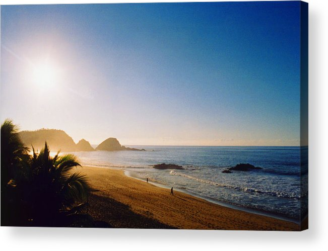 Landscape Acrylic Print featuring the photograph Early Morning In Zipolite 2 by Lyle Crump