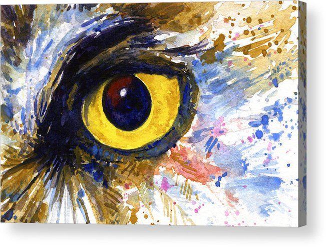 Owls Acrylic Print featuring the painting Eyes Of Owl's No.6 by John D Benson