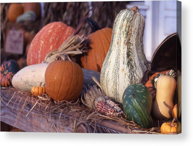 Acrylic Print featuring the photograph Fall-roadside-produce by Curtis J Neeley Jr
