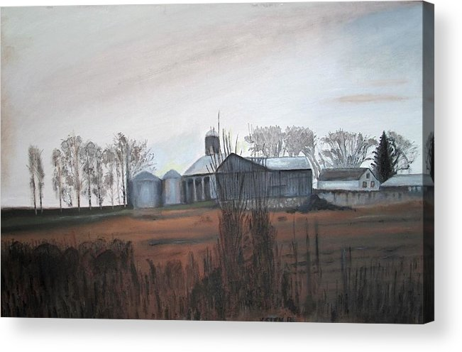 Farm Acrylic Print featuring the painting Farm In The Fall by Keith Bagg