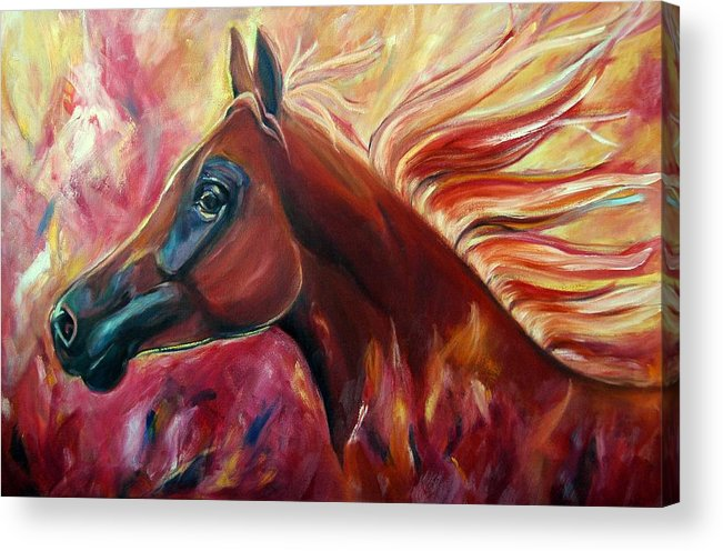 Horse Acrylic Print featuring the painting Firestalker by Stephanie Allison