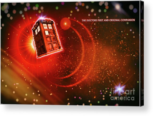 Doctor Who Acrylic Print featuring the digital art First And Last Love by Robert Radmore