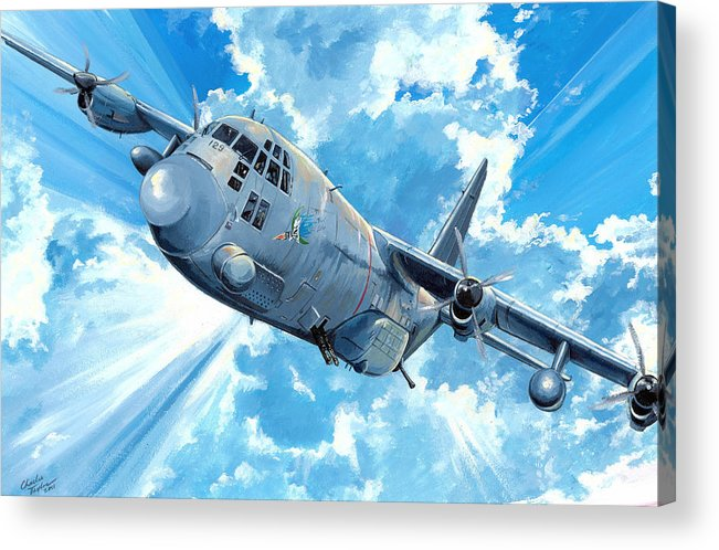 Air Force Acrylic Print featuring the painting First Lady by Charles Taylor
