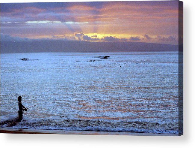 Pastel Acrylic Print featuring the photograph Fishing by Maro Kentros
