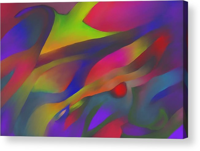 Colorful Acrylic Print featuring the digital art Flowing Energies by Peter Shor