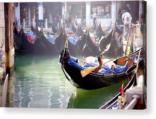 Venice Acrylic Print featuring the photograph Gondola In Venice In The Morning by Michael Henderson