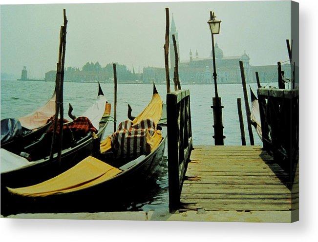 Venice Acrylic Print featuring the photograph Gondolas by Ian MacDonald