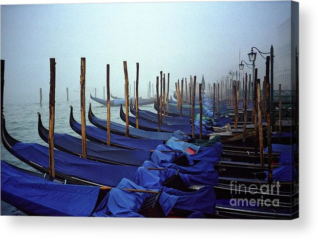 Venice Acrylic Print featuring the photograph Gondolas In Venice In The Morning by Michael Henderson