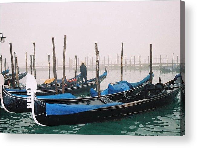 Landscape Acrylic Print featuring the photograph Gondolas by Kathy Schumann