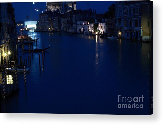 Venice Acrylic Print featuring the photograph Grand Canal In Venice At Night by Michael Henderson