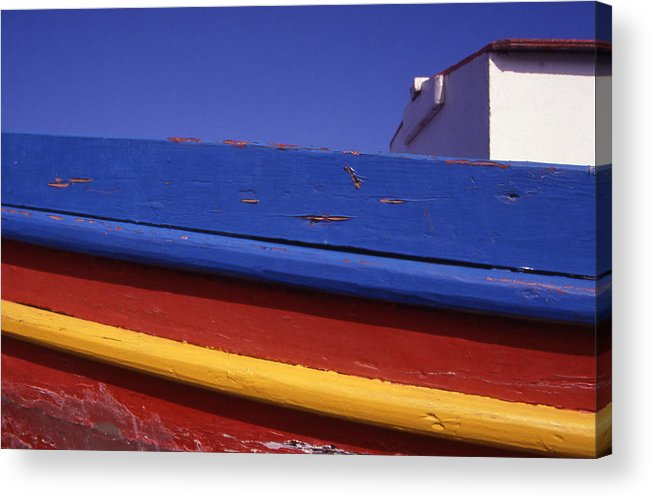 Europe Acrylic Print featuring the photograph Greece. Colorful Fishing Boat by Steve Outram