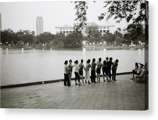 Friendship Acrylic Print featuring the photograph Group Massage by Shaun Higson
