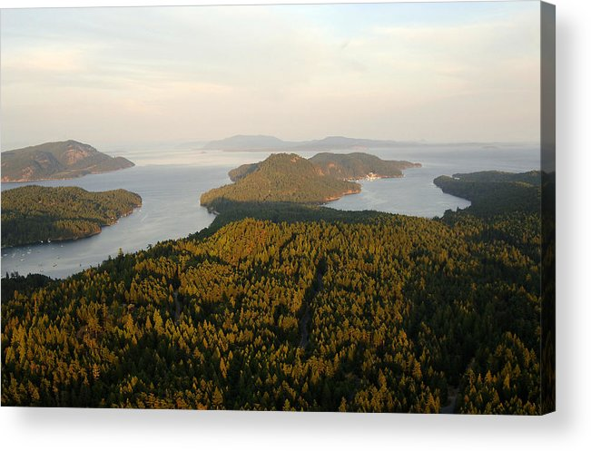 Gulf Islands Acrylic Print featuring the photograph Gulf Islands Aerial by Kevin Oke