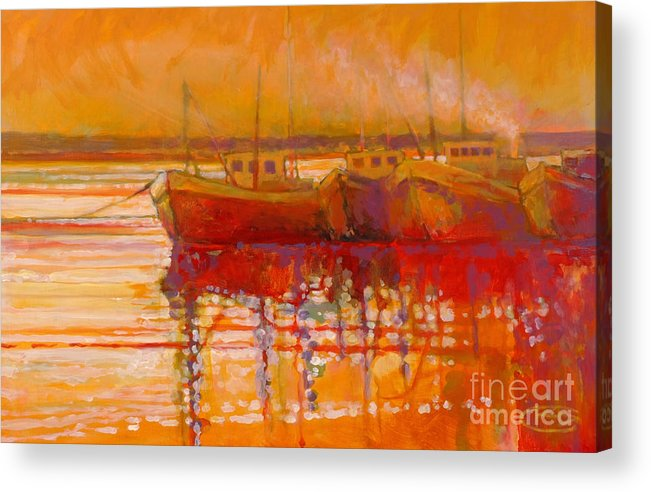 Boats Acrylic Print featuring the painting Hot And Steamy by Kip Decker