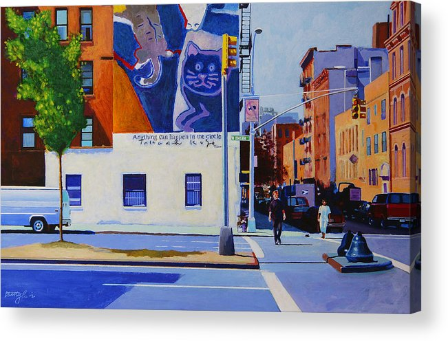 Houston Street Acrylic Print featuring the painting Houston Street by John Tartaglione