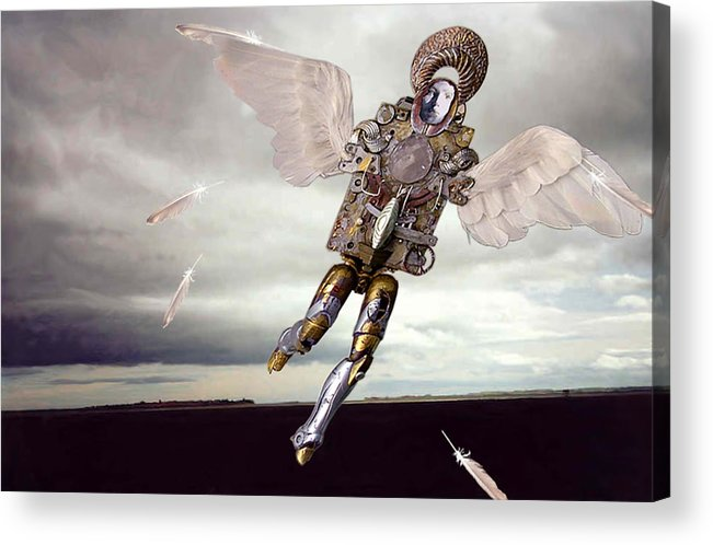 Surreal Acrylic Print featuring the digital art Icarus by Evelynn Eighmey