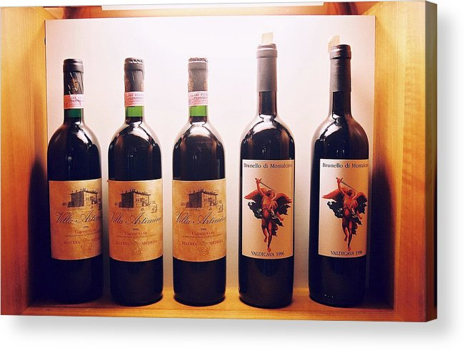 Wine Acrylic Print featuring the photograph Italian Wines by Kathy Schumann