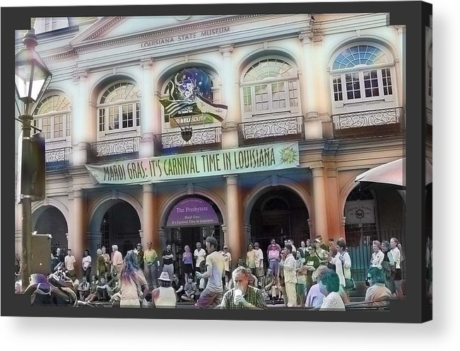New Orleans Acrylic Print featuring the photograph It's Carnival Time by Linda Kish