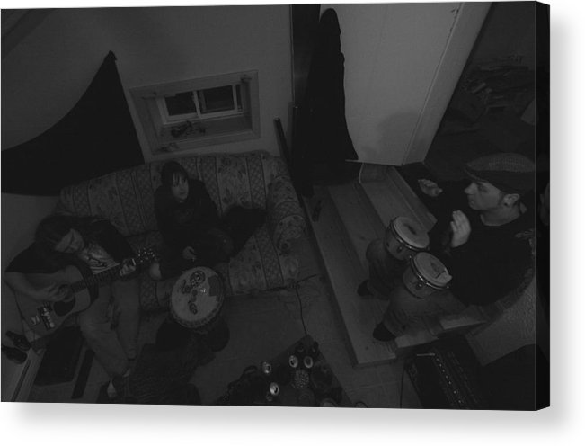 Black Acrylic Print featuring the photograph Jam Sesh by Adam M Dee