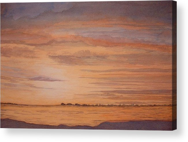 Landscape Acrylic Print featuring the painting January Sunrise by Lynn ACourt