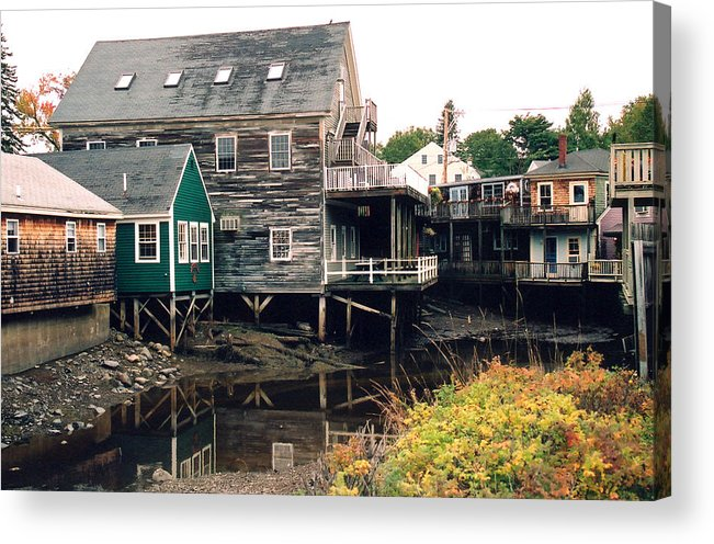 Landscape Acrylic Print featuring the photograph Kennebunkport At Low Tide by Robert Gladwin