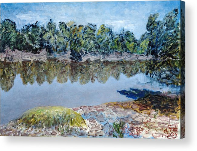 Water Acrylic Print featuring the painting Kings River by Joan De Bot