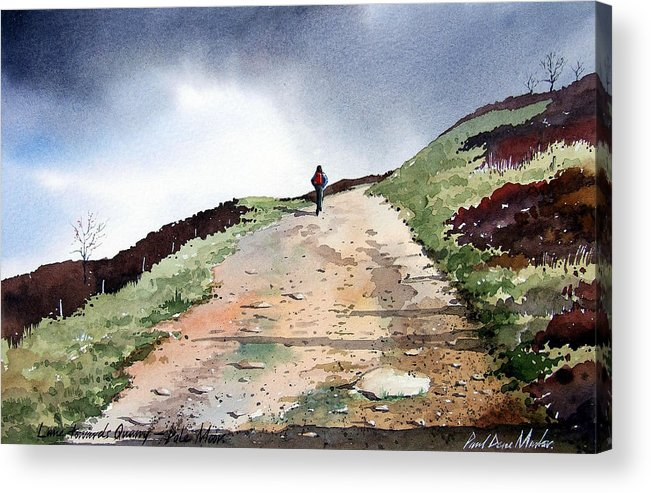 Landscape Acrylic Print featuring the painting Lane To Quarry Pole Moor by Paul Dene Marlor