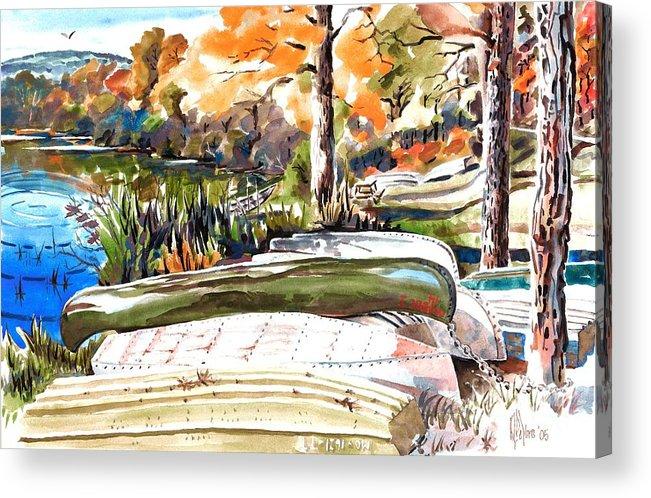 Last Summer In Brigadoon Acrylic Print featuring the painting Last Summer In Brigadoon by Kip DeVore