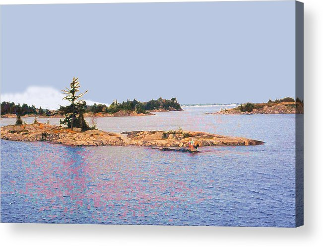 Island Acrylic Print featuring the photograph Little Island Ae Painting 2 by Lyle Crump