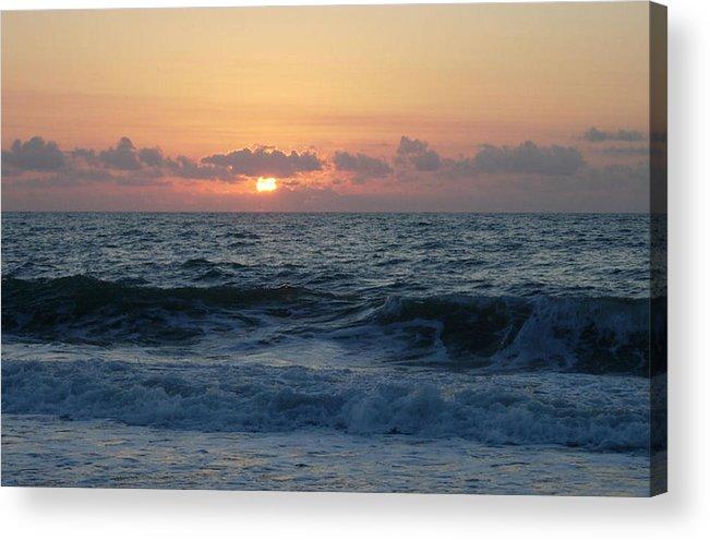 Majestic Acrylic Print featuring the photograph Majestic Atlantic Sunrise by Stephanie H Johnson