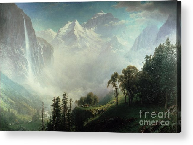 Majesty Acrylic Print featuring the painting Majesty Of The Mountains by Albert Bierstadt