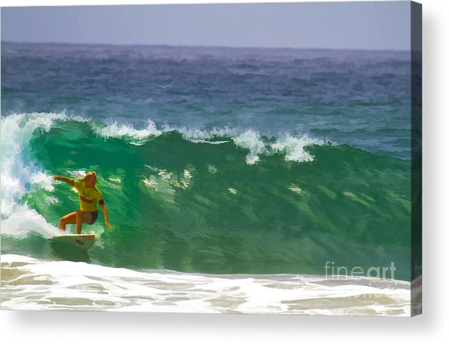 California Acrylic Print featuring the digital art Making The Half Pipe by Waterdancer