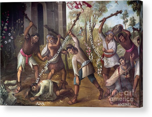 18th Century Acrylic Print featuring the photograph Mexico: Christian Martyrs by Granger