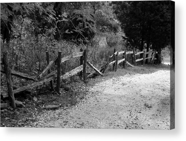Wood Acrylic Print featuring the photograph Momvisitcarterlanefence5 by Curtis J Neeley Jr