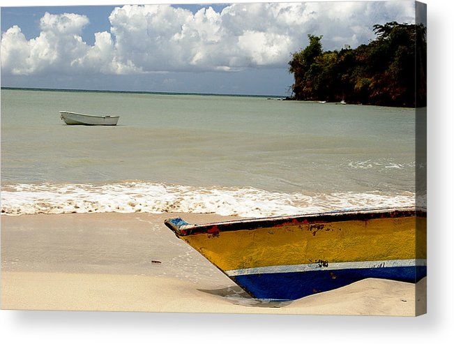 Boat Acrylic Print featuring the photograph Morne Rouge Boats by Jean Macaluso