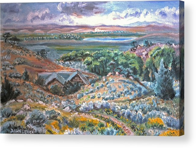 Landscape Acrylic Print featuring the painting My Home Looking West by Dawn Senior-Trask