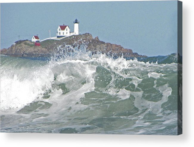 Lighthouse Acrylic Print featuring the photograph Nubble Light House Maine by Patrick J Maloney