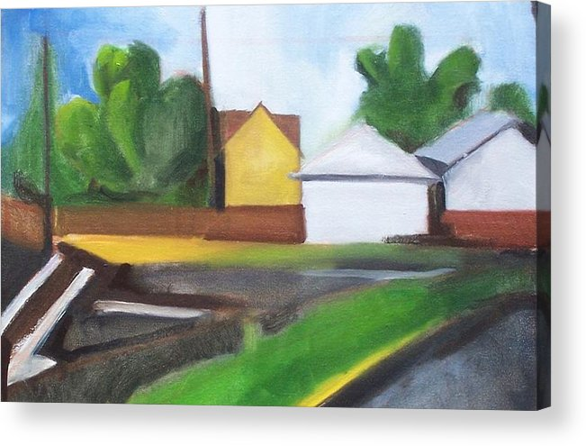Landscape Acrylic Print featuring the painting Off 80 by Ron Erickson