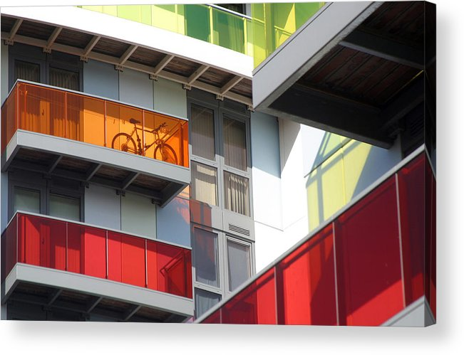 Jez C Self Acrylic Print featuring the photograph Orange Bicycle by Jez C Self
