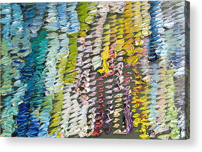 Abstract Acrylic Print featuring the painting Palette. Colorful Painter Palette. Exhausted Paint And Abstract Painting. by Vitali Komarov