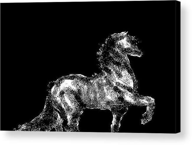 Horses Acrylic Print featuring the digital art Passage by Carole Boyd