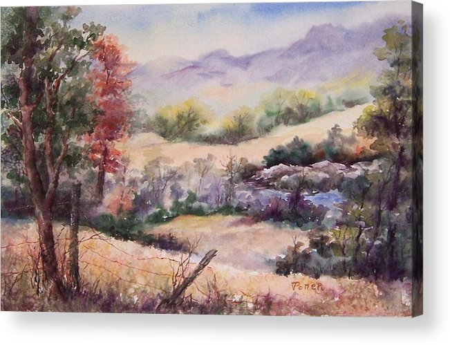 Fall Acrylic Print featuring the painting Pee Dee Creek by Virginia Potter