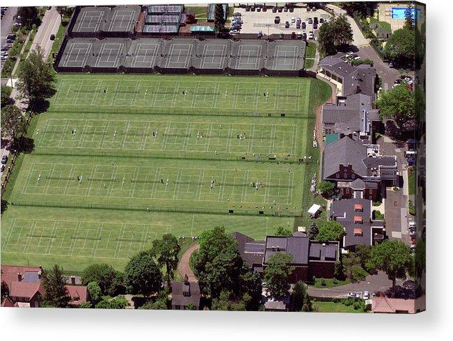Philadelphia Cricket Club Acrylic Print featuring the photograph Philadelphia Cricket Club Us Jr International Grass Court Championships by Duncan Pearson