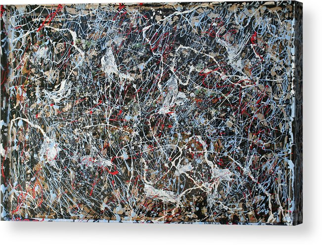 Acrylic Print featuring the painting Pollock's Ghosts by Biagio Civale