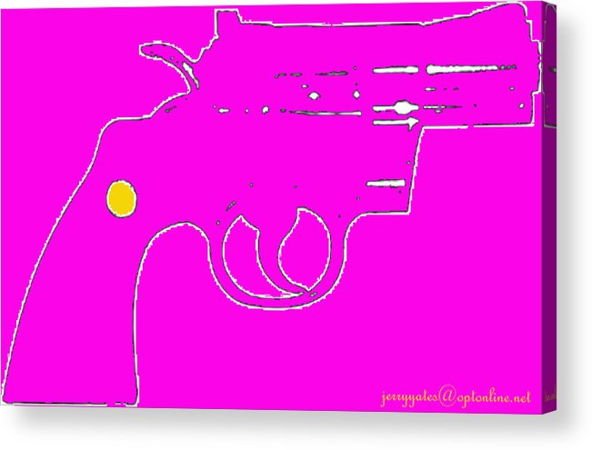 Gun Acrylic Print featuring the photograph Pretty Revolver by Gerard Yates