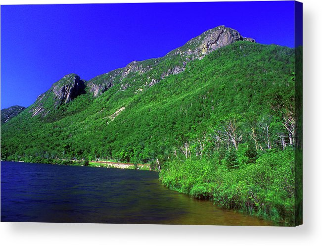 New Hampshire Acrylic Print featuring the photograph Profile Lake Franconia Notch by John Burk
