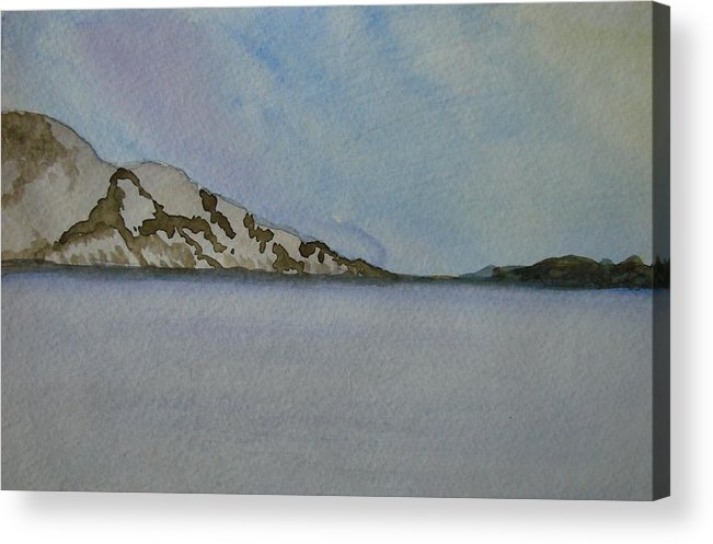 Ocean Acrylic Print featuring the painting Quietude by Liz Vernand