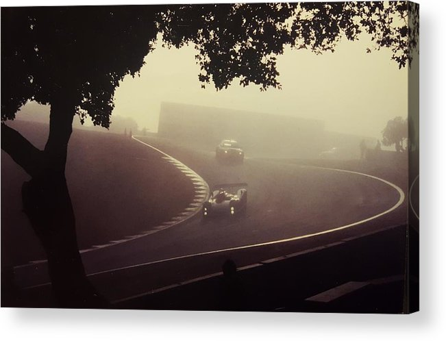 Auto Acrylic Print featuring the photograph Racing The Fog by Bradley Nelson